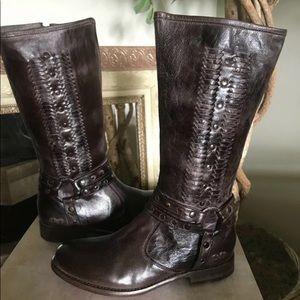 Bed Stu Selina dark brown harness boot